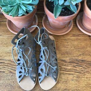 Mossimo Taupe Gladiator Sandals